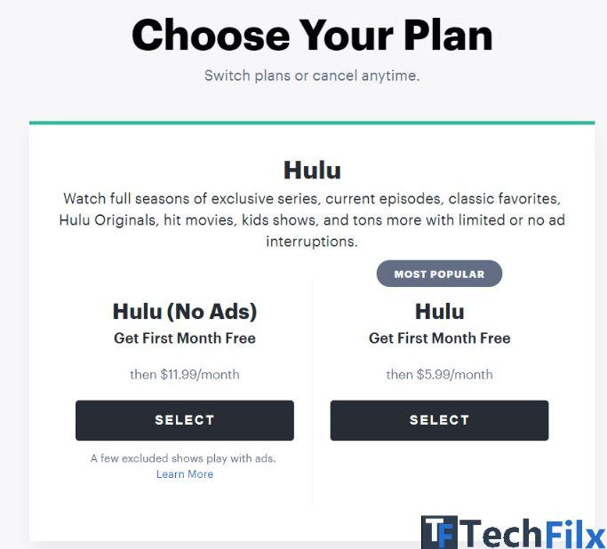 Free hulu account